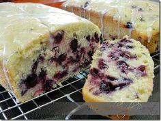 Lemon Blueberry Zucchini Bread with Lemon Glaze