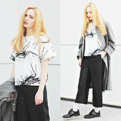 Kristina Magdalina - Sheinside Top, Frontrowshop Pants - Commodious outfit.