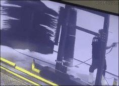Car wash employee gets taken for a ride. He was dizzy, but fine. [video]