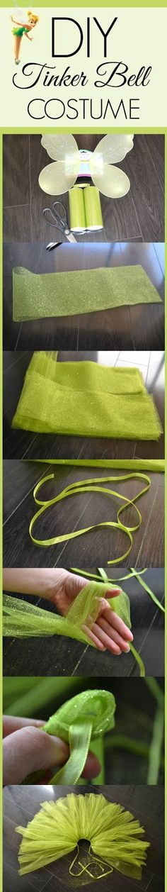 DIY Tinker Bell Costume for under $10. Great for a Peter Pan or Neverland Birthday Party or Halloween costume.