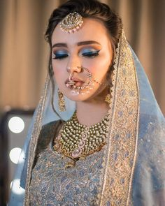 Gone are the days where weddings and wedding receptions mean securing the reception hall at one's local church that is around the corner. Bridal Makeup Images, Bridal Eye Makeup, Bridal Makeup Looks, Bride Makeup, Bridal Looks, Bridal Style, Wedding Makeup, Pakistani Bridal Makeup, Indian Bridal Fashion