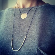 Wearing them layered today Handmade Sterling Silver, Sterling Silver Necklaces, Silver Jewelry, Greece, Arrow Necklace, Handmade Jewelry, Jewelry Design, Fashion Jewelry, Etsy Shop