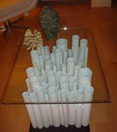 Base de table en tubes de PVC
