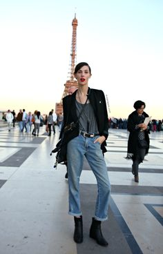 MODELS JAM: Ruby Aldridge +Eiffel Tower, Paris, September 2012