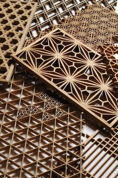 "The ""Kumiko"" woodwork technique was developed in Japan in the Asuka Era (600-700 AD). Tanihata uses this technique to manufacture Ramma for room dividers and sliding doors. Wood chips are thinly and precisely shaved then carefully assembled chip by chip to construct Kumiko Ramma. Wood goes through a process of selection, grinding, splitting and assembling. Tradition is preserved through the craftsmen's experience, skill and passion."