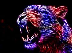 Fractal Snow Leopard by minimoo64.deviantart.com