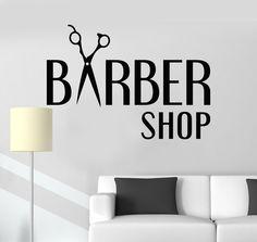 Vinyl Wall Decal Barbershop Hair Salon Hairdresser Stylist Stickers Unique Gift (ig3227)