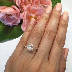 New 1 ctw 3/4 ct Oval Halo Engagement Ring by TigerGemstones