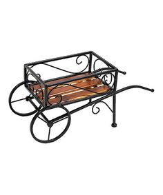 This Metal & Wood Square Wagon is perfect! #zulilyfinds
