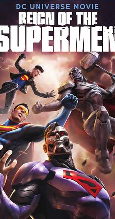 Directed by Sam Liu. With Jerry O'Connell, Rebecca Romijn, Rainn Wilson, Patrick Fabian. After the death of Superman, several new people present themselves as possible successors. Dc Universe, Dc Animated Series, God Of War Series, Death Of Superman, Rebecca Romijn, Deadpool Wallpaper, Dnd Art, Best Iphone Wallpapers, Justice League