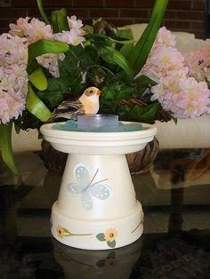 Craft: Birdbath Candleholder by Wicked Stepmom, via Flickr