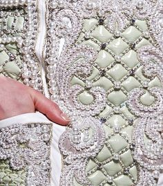 NOT ORDINARY FASHION  Balmain detail haute couture