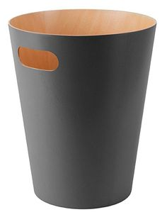Umbra Woodrow Waste Can, 2 Gallon (7.5L), Charcoal