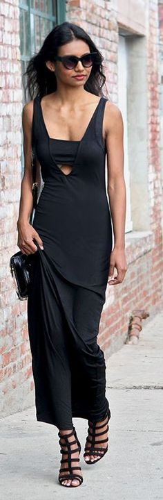 Black Simple Things Casual Chic Streetstyle by Tuolomee