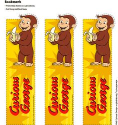 Curious George Party Favors: Bookmark . Birthday Party . PBS Parents | PBS