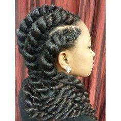 Wondrous Side Cornrows Havana Twist Mohawk Protective Style S Hairstyle Inspiration Daily Dogsangcom
