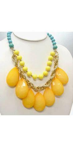 Vestique, Glorious Yellow Bead Necklace, $24.50