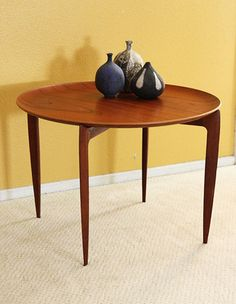 Danish Teak Tray Folding Table Mid century Modern Eames Fritz hansen