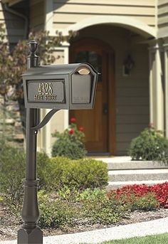 Mailbox packages help you save time and money. The Chalet Standard Mailbox Package is available in Black, White, Bronze, or Green.