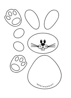 Résultat d'images pour Easter Bunny Printable Template Easter Bunny Template, Easter Templates, Bunny Templates, Rabbit Crafts, Bunny Crafts, Easter Crafts, Easter Bunny Colouring, Easter Coloring Pages, Easter Bunny Pictures
