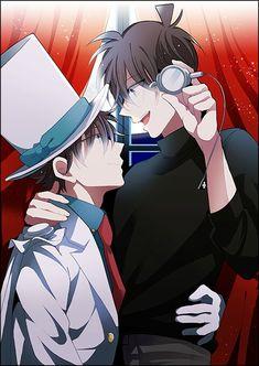 Cute Anime Boy, Anime Guys, Manga Anime, Manga Detective Conan, Magic For Kids, Kaito Kuroba, Detective Conan Wallpapers, Kaito Kid, Kudo Shinichi