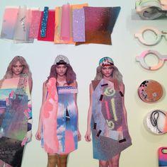 Textiles Work-in-progress Sketchbook Layout, Textiles Sketchbook, Fashion Sketchbook, Fashion Design Portfolio, Fashion Design Sketches, Fashion Collage, Fashion Art, A Level Textiles, Fashion Figures