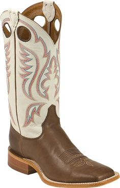 Mens Cowboy Boots Bent Rail By Justin Boots Chocolate Burnished Calf