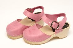 Pink Mary Jane Clog - Mary Jane shoes have been a footwear figure for the last century. Why not in clogs? Pink-colored soft leather uppers with a complete ankle strap construction, these sophisticated clogs will be fun for your little girl's outfit! Available in Children's sizes 24-34. Order here: http://store.capeclogs.com/childrens.aspx.