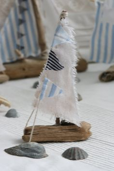 Drift wood sail boats
