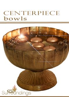 Glass bowls for floating candle centerpieces Floating Candle Centerpieces, Glass Bowls, Metal Bowl, Wooden Bowls, Decorative Bowls, Home Decor, Interior Design, Home Interior Design, Home Decoration