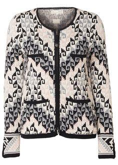 Odd Molly Cardigan grå mønstret 117M-650 Chillax Cardigan - tranquil – Acorns
