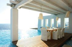Desayuno perfecto en el Hotel Cavo Tagoo en Míkonos, Grecia... escapar.com.co