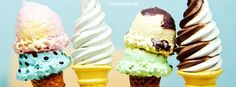 Get our best Ice Cream Cones For Summer Heat facebook covers for you to use on…