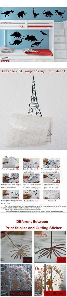DIY Vinyl Dinosaur Wall Decal Sticker Kids Boy Room Nursery Decor Bedroom 10 Dinosaurs Free Shipping