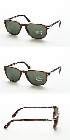 4d638bb09f4 Sunglasses 45246  New Persol Po 3019S 24 31 Brown Frame Green Lens Unisex  Square Metal Sunglasses -  BUY IT NOW ONLY   136.99 on eBay!