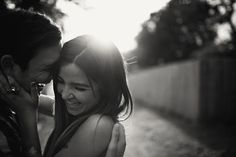 A happy, candid engagement shot | Love is a Big Deal