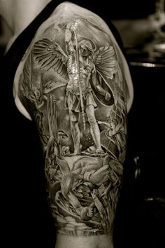 st michael tattoo - Google Search