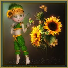 Cute Tattoo Ideas For Women – Be Creative When Deciding On Cute Tattoo Designs Pretty Dolls, Cute Dolls, Beautiful Dolls, Sunflower Pictures, Sunflower Art, Kobold, Unicorns And Mermaids, Sexy Tattoos For Girls, Baby Fairy