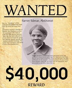 OUR fallen warriors: General Harriet Tubman Harriet Tubman, an escaped slave herself, helped free more than 300 Black people during 19 missions on the Underground Railroad. Black History Month, Black History Facts, African American History, Women In History, World History, American Women, Ancient History, Strange History, Tudor History