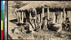 Family preparing food in village, Bailundo, Angola, ca.1920-1940. http://digitallibrary.usc.edu/cdm/ref/collection/p15799coll123/id/84530