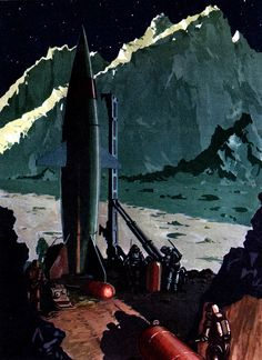 MISSILE from the MOON - Illustration by Jack COGGINS (1952)