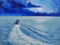 In to the sea Acrylic on canvas