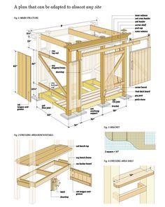 Find the best woodworking plans at - http://woodworkinghobbies.blogspot.com(via Free-Outdoor-Shower-Wood-Plans-06.jpg (JPEG Image 1600  2014 pixels) - Scaled (28%))