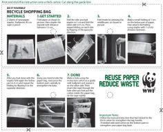 een papieren zak maken van een krant