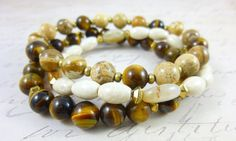 Delectable Caramel Boho Bracelets, cleansed and energy activated by EarthEnergyGemstones
