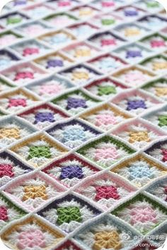 Love this crocheted blanket