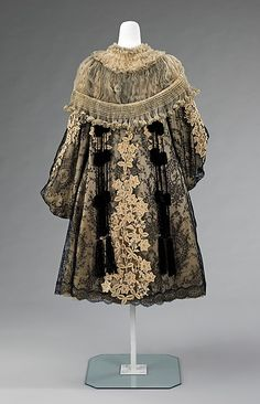 ~Evening coat Rouff  (French, 1844–1914) Date: 1895–1905 Culture: French Medium: silk, rhinestones~