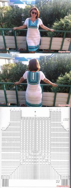 Vestido-túnica de crochê - Knitting - Country Moms