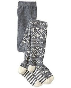 Winterly Fair Isle Tights by Hanna Andersson