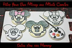 Paint Your Own Mickey and Minnie Cookies